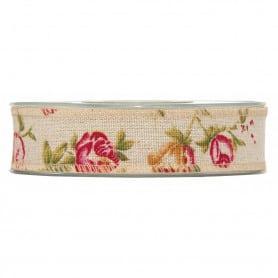 Ruban fleurs antiques Loïs - Grossiste accessoires fleuriste