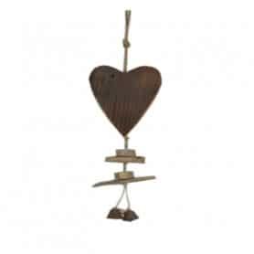 Suspension coeur en bois Levoly - Grossiste décoration