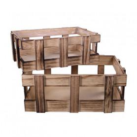 Set de 2 caisses en bois Noevy
