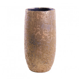 Vase en céramique effet or patiné Masto - Grossiste fleuriste