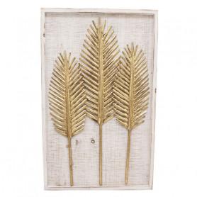 Tableau en bois et feuilles...
