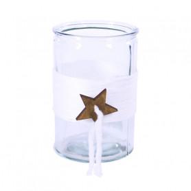 Vase en verre pampille étoile Starette - Grossiste vase verre