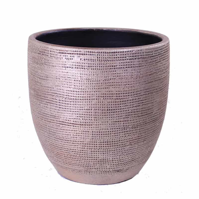 Cache-pot motif toile Bizbir - Grossiste pot de fleurs