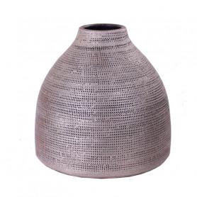 Vase bouteille motif toile Bertou - Grossiste fleuriste