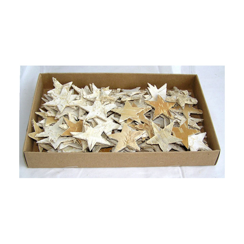 étoile écorce naturel liseré paillette par 30 pièce