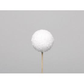 Boule de Noël en polypropylène blanche pailleté - Grossiste fleuriste