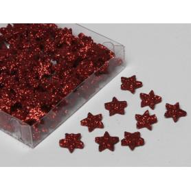 Boîte de 144 étoiles pailletés différents coloris Edhy - Grossiste deco