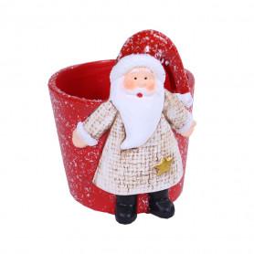 Pot de fleurs Père Noël...
