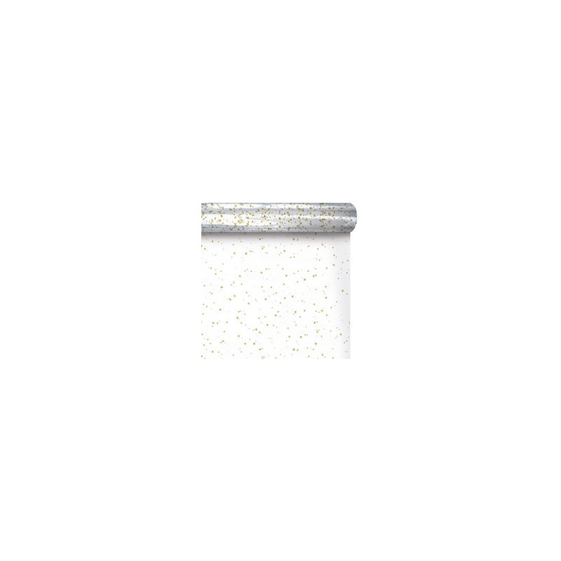 Papier polypro imprimé étoiles 35µ Renu - Grossiste fleuriste