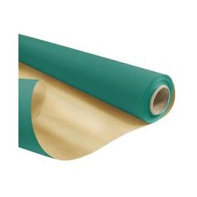 Papier kraft duo vert émeraude et or  - Grossiste fleuriste