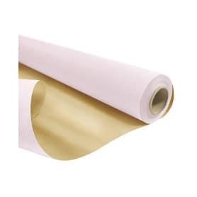 Papier kraft duo rose et or