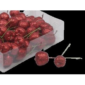 Pomme pailleté sur pic Citoz - Grossiste fleuriste