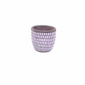 Cache-pot céramique nid d'abeille Bzi - Grossiste céramique