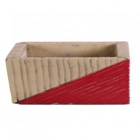 Jardinière rectangle céramique Lonsagy - Grossiste fleuriste