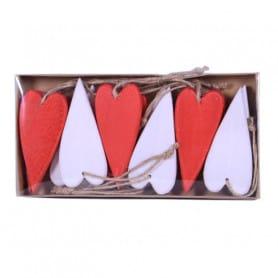 Suspension cœur en bois taille L Bilka - Grossiste fleuriste