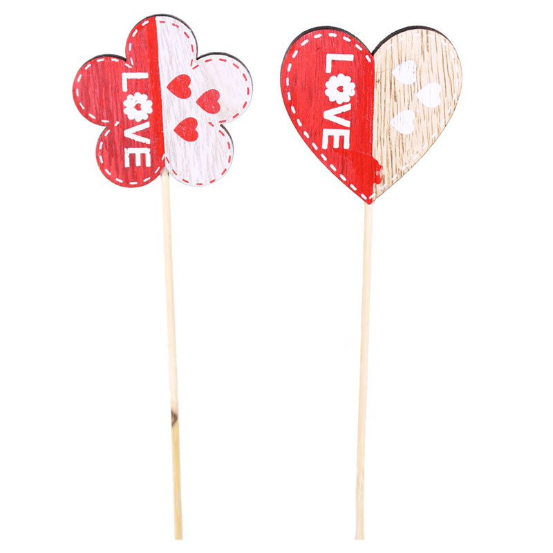 Pics Saint Valentin cœur et fleur Dicti - Grossiste fleuriste