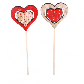 Pics Saint Valentin cœurs ajourés Facha - Grossiste fleuriste