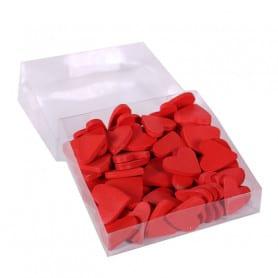 Boîte de 36 cœurs en bois Fidu - Grossiste fleuriste