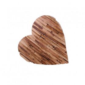 Cœur en bois décoratif Tigra - Grossiste fleuriste