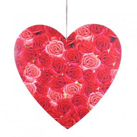 Cœur fleuri en bois à suspendre Vena - Grossiste fleuriste