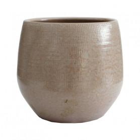 Cache-pot en céramique émaillé Yina - Grossiste fleuriste