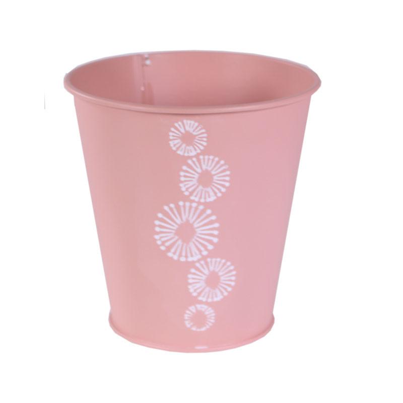 Cache-pot rond en zinc Prestoi - Grossiste fleuriste