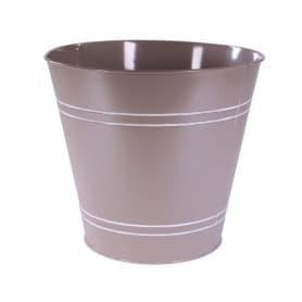 Cache-pot rond en zinc Traity - Grossiste fleuriste