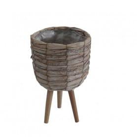 Cache-pot sur pied en bois...