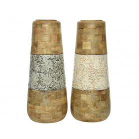 Vase bois et émail Richardo