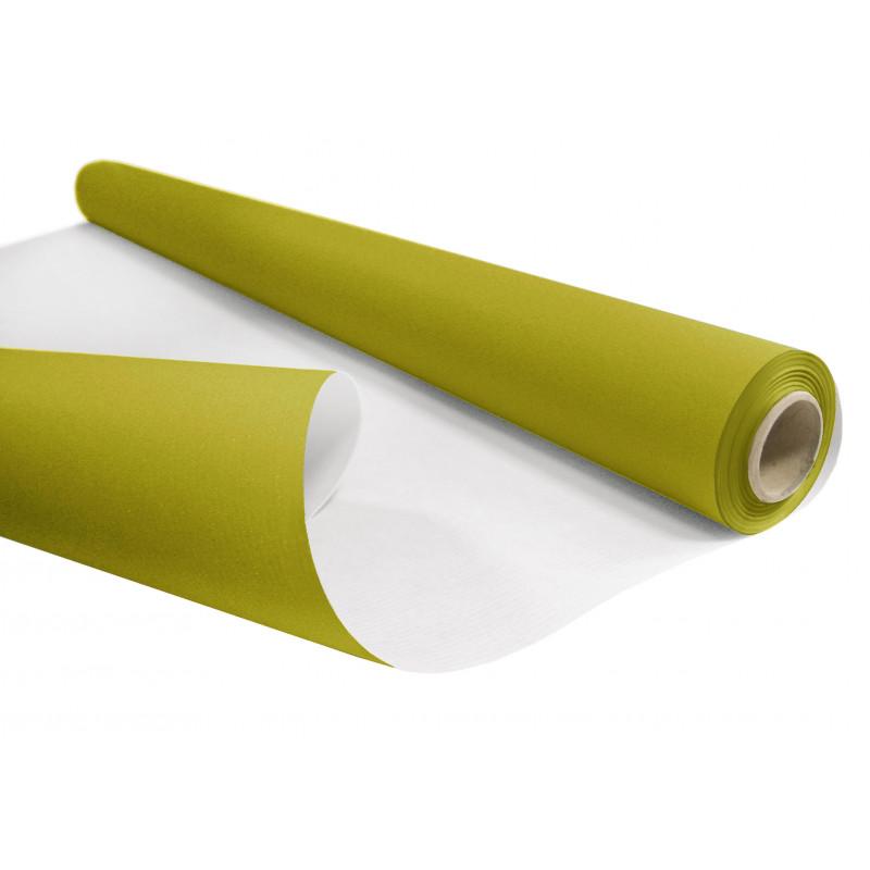 Papier kraft blanchi mat duo vert mousse et blanc - Grossiste fleuriste