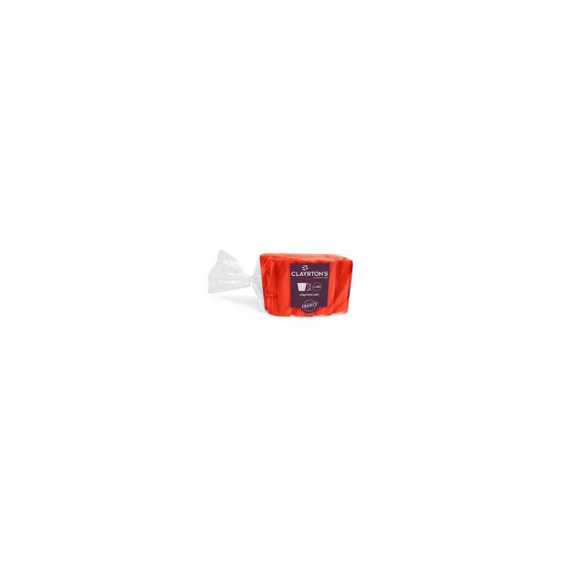 Manchette unie rouge Claksy - Grossiste fleuriste