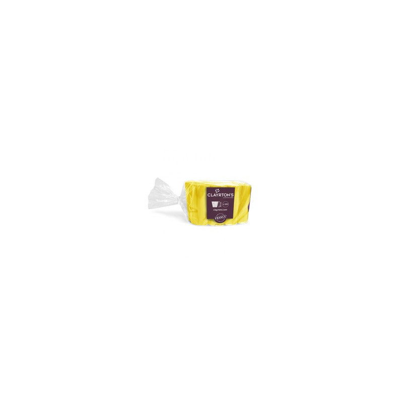 Manchette unie jaune Nuaru - Grossiste fleuriste