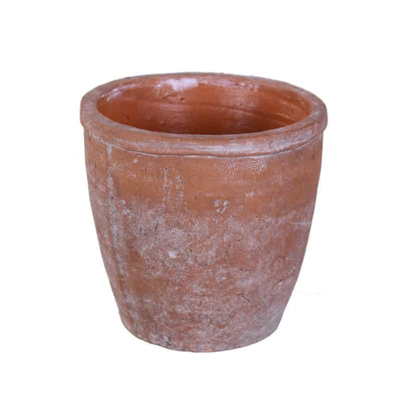 Cache-pot rond en terre cuite Yorola - Grossiste fleuriste