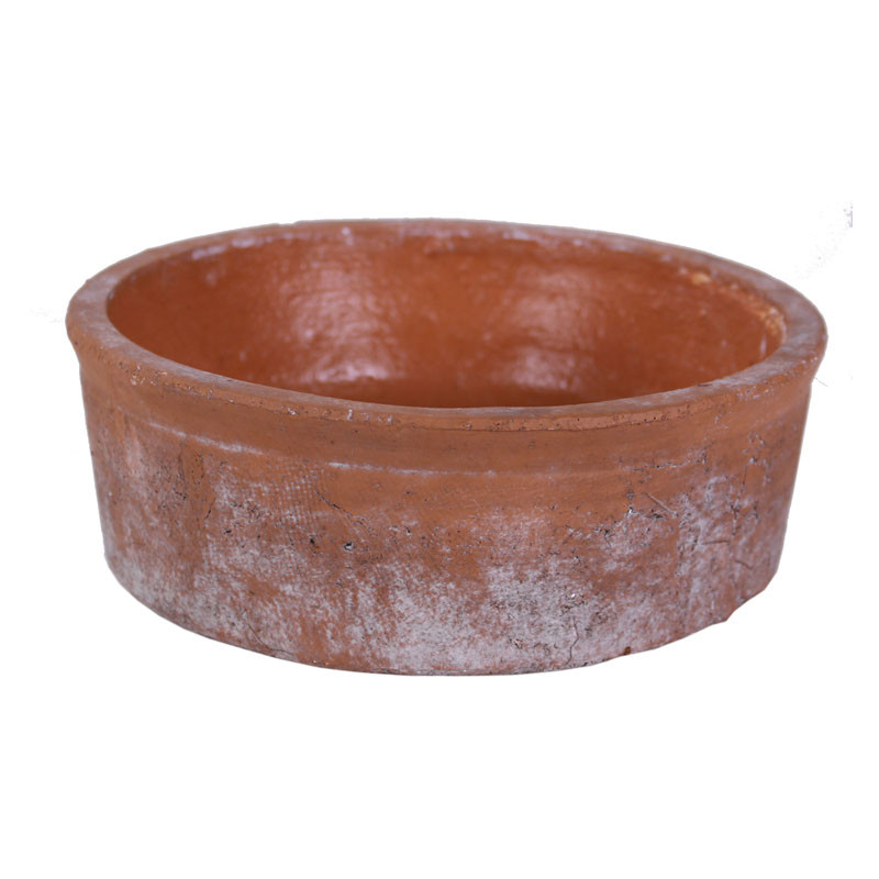 Coupe ronde en terre cuite Yorolius - Grossiste fleuriste