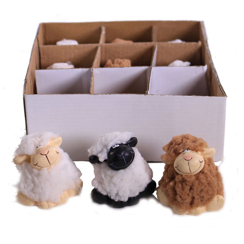 Boîte assortiment moutons décoratifs Sheepy - Grossiste fleuriste