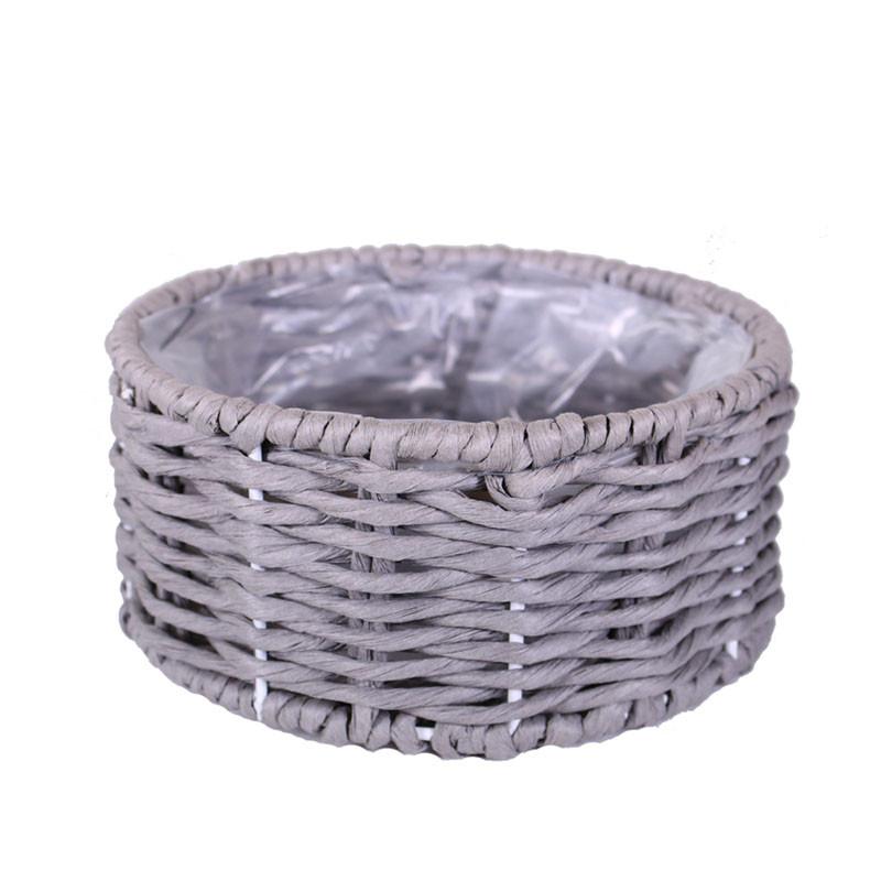 Coupe rectangulaire ou ronde effet corde Annyse - Grossiste fleuriste