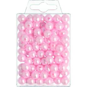 Perles roses D. 10mm ou D....