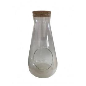 Terrarium bouteille conique...
