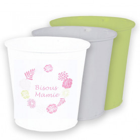 Cache-pots ronds en zinc assortis Courony - Grossiste fleuriste