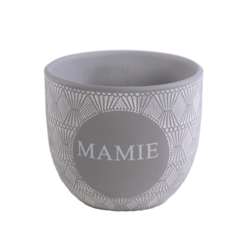 Pot de fleurs rond en céramique MAMIE - Grossiste fleuriste