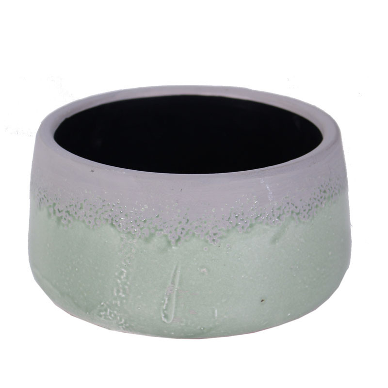 Coupe ronde bicolore en céramique Payo - Grossiste fleuriste