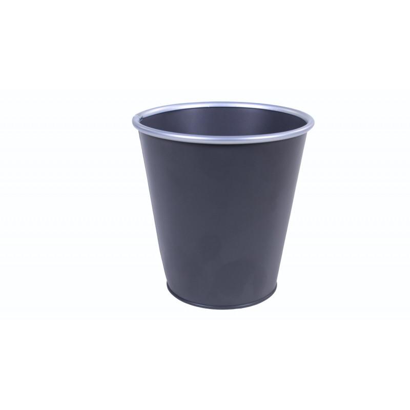 Cache-pot en zinc à bordure argentée Triou D. 15cm - Grossiste fleuriste