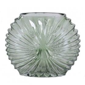 Vase verre strié effet...