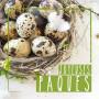 Étiquettes adhésives carrées Joyeuses Pâques Lore