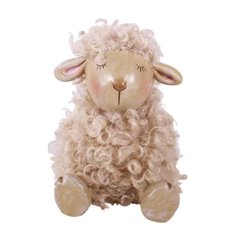 Figurine mouton touffu Sido - Matériel pour fleuriste