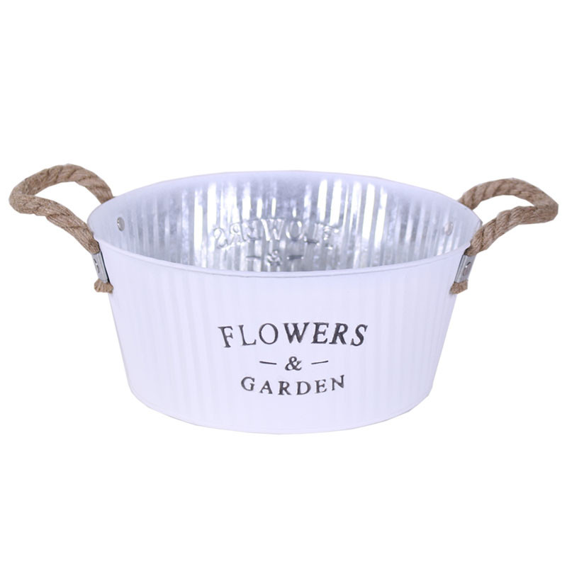 Coupe ronde en zinc Florwers & Garden Hassy - Grossiste fleuriste