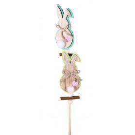 Pics en bois Pâques lapins...