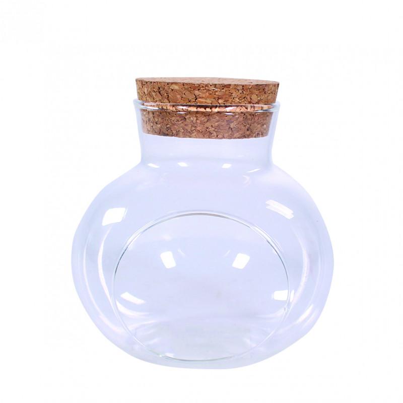 Terrarium en verre avec bouchon en liège Chiwawou - Grossiste fleuriste