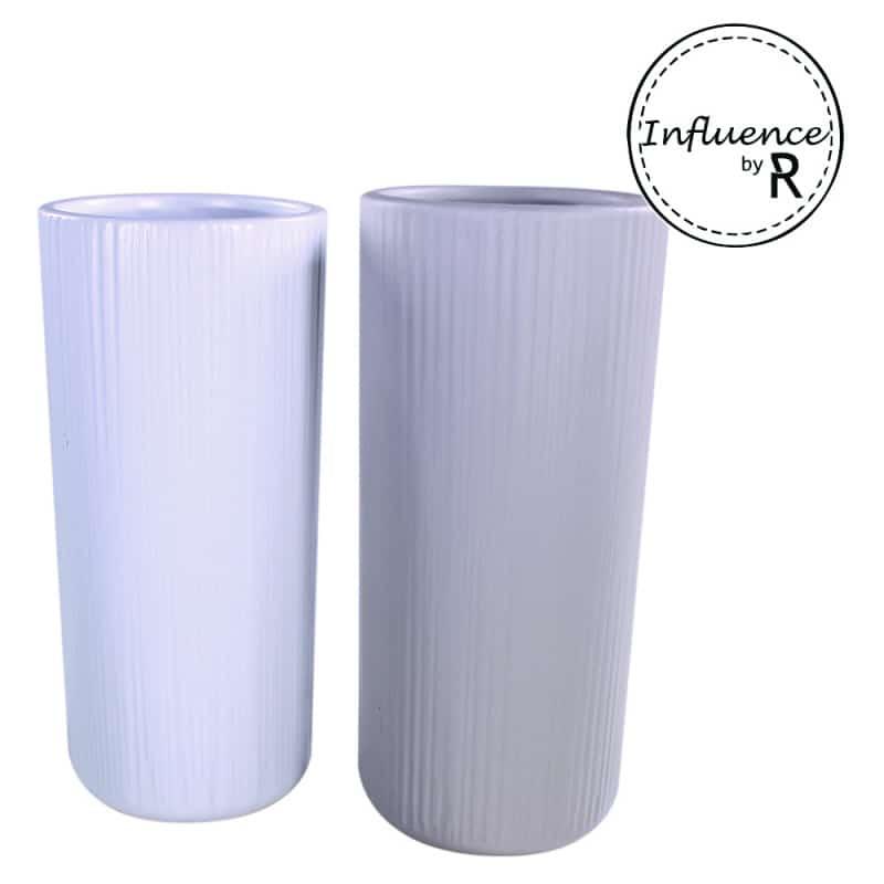 Vase rond en céramique Gamme Influence Charlotte - Grossiste fleuriste