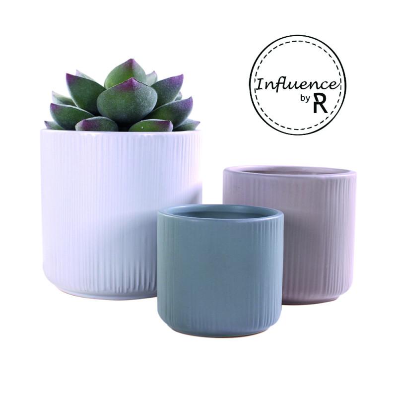 Cache-pot rond en céramique Gamme Influence Catherine - Grossiste fleuriste